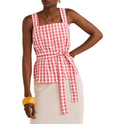 Mango Strawberry Bow Linen Top