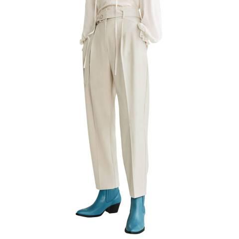 Mango Ecru Paper Bag Trousers