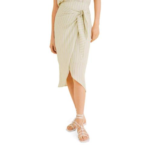 Mango Beige Flowy Fun Skirt