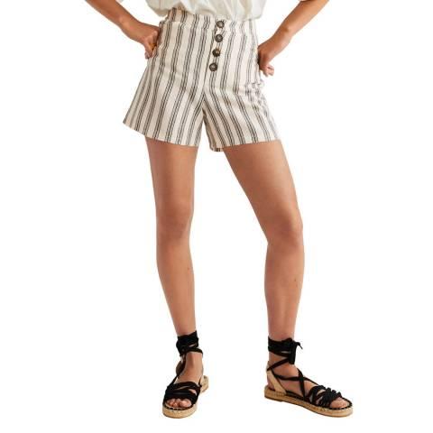 Mango Off White Sisi Shorts