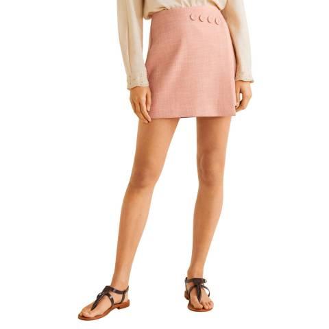 Mango Pink Gofra Lined Skirt