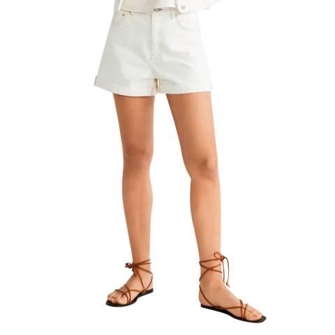 Mango Ecru Denim Shorts