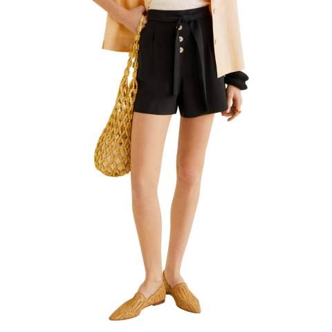 Mango Black Texture Shorts