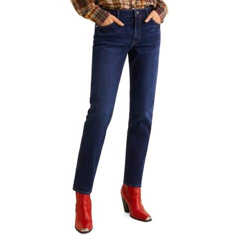 Mango Dark Blue Lonny Stretch Jeans