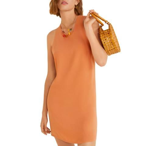 Mango Orange Wrap Back Dress