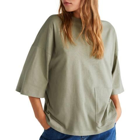 Mango Green Pocket Cotton T-Shirt