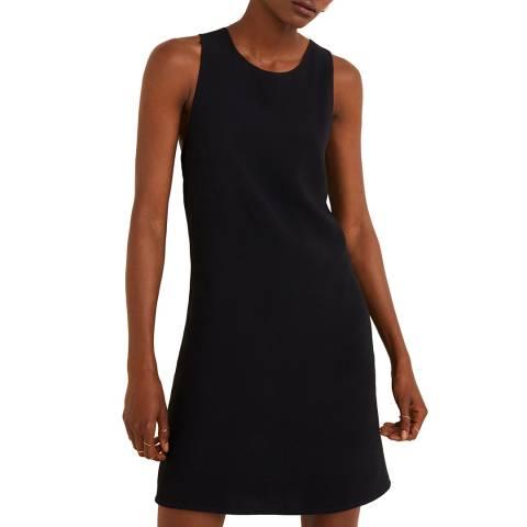 Mango Black Wrap Back Dress