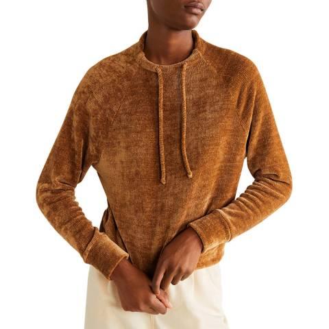 Mango Medium Brown Knit Sweatshirt