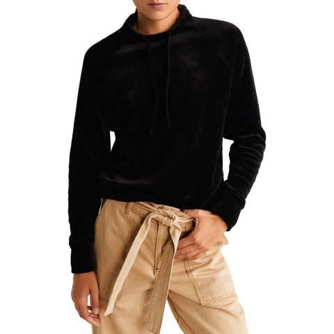 Mango Black Knit Sweatshirt