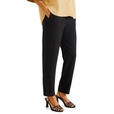 Mango Black Elastic Waist Pants