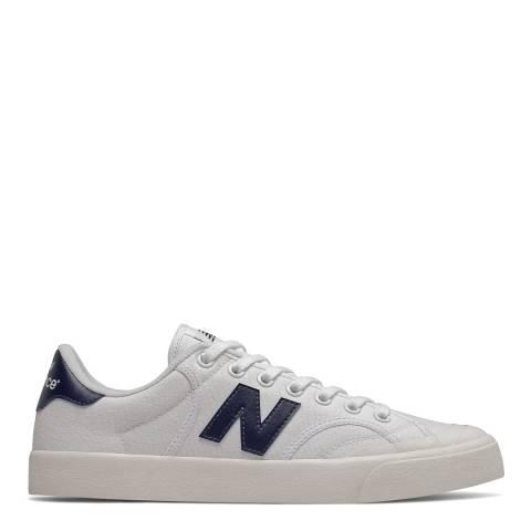 New Balance White Proctsev Court Sneaker