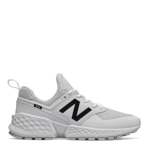 New Balance White 574 Sport Sneaker