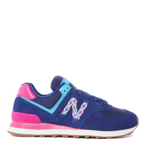 New Balance Blue/Pink 574 Sneaker
