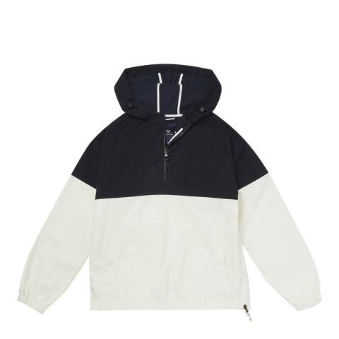 Crew Clothing Navy/White Sail Popover Jacket