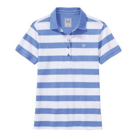 Crew Clothing Blue/White Exmouth Stripe Polo