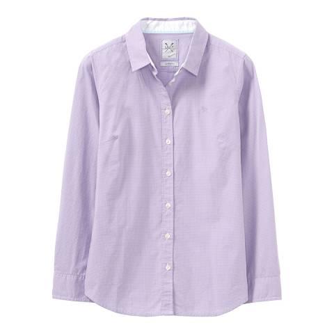Crew Clothing Lilac/White Mini Grid Check Shirt