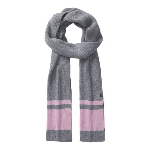 Crew Clothing Grey/Pink Colour Block Scarf