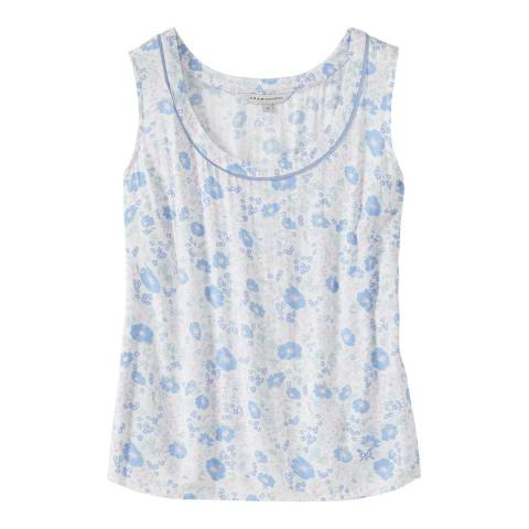 Crew Clothing White/Blue Shell Top