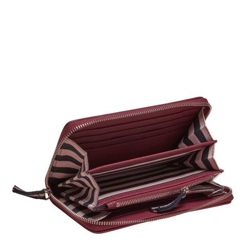 Crew Clothing Red Leather Purse