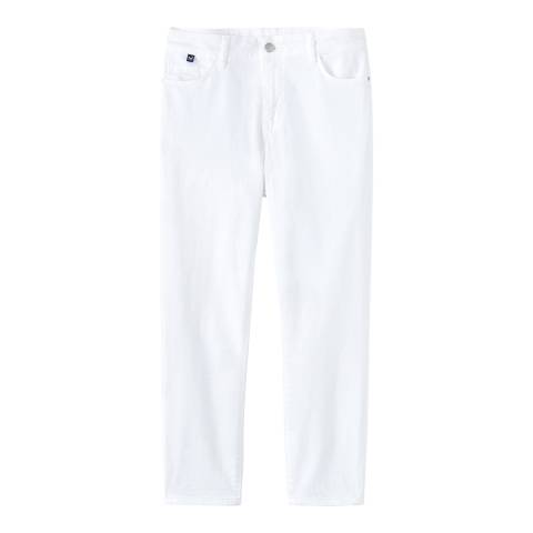 Crew Clothing White Cropped Skinny Jeans