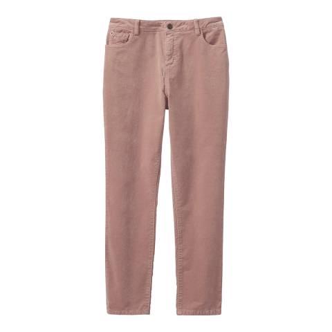 Crew Clothing Pink Velvet Trousers