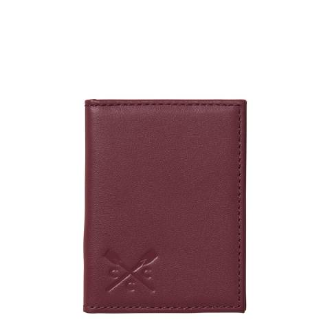 Crew Clothing Red Leather Card Holder