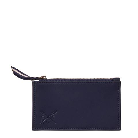 Crew Clothing Red Leather Card Purse