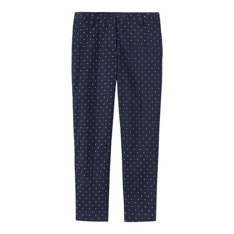 Crew Clothing Navy Ankle Grazer Trousers