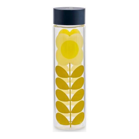 Orla Kiely Daisy Stem Glass Water Bottle, 525ml