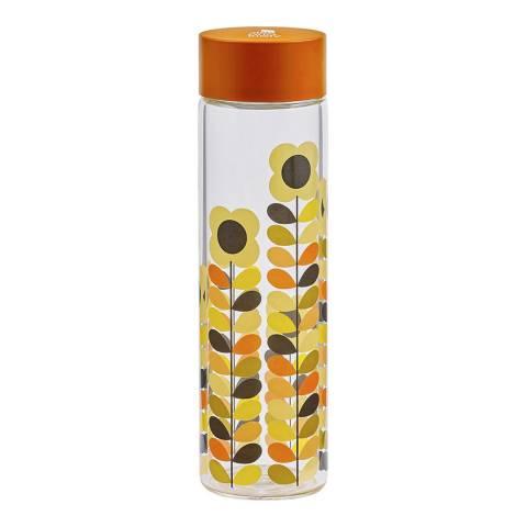 Orla Kiely Multi Stem Daisy Glass Water Bottle, 525ml