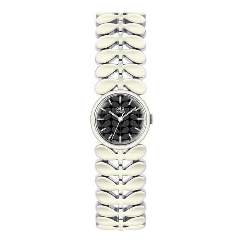 Orla Kiely Silver Laural Bracelet Watch