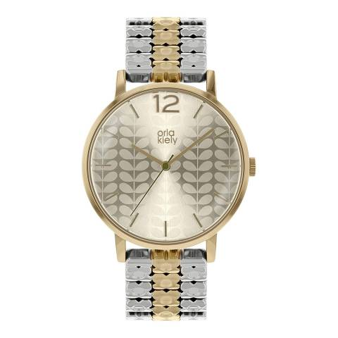 Orla Kiely Silver & Gold Bracelet Watch