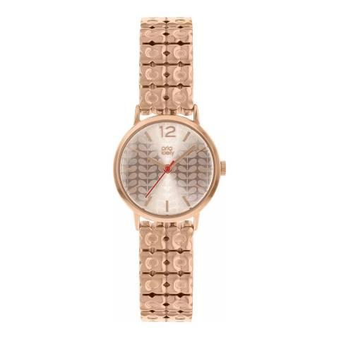 Orla Kiely Rose Gold Bracelet Watch