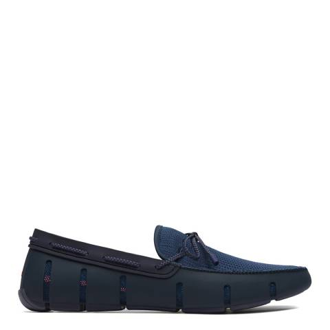 Swims Navy Braided Lace Lux Loafer Driver