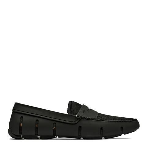 Swims Black Penny Loafers