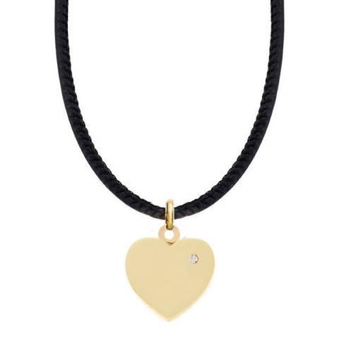 Liv Oliver 18K Gold Plated Heart Charm Necklace