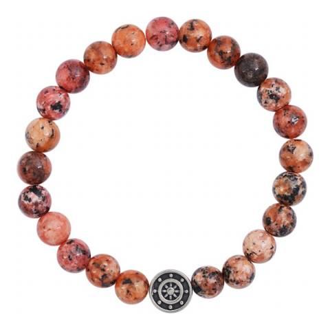 Stephen Oliver Multi Orange Nautical Gemstone Bracelet