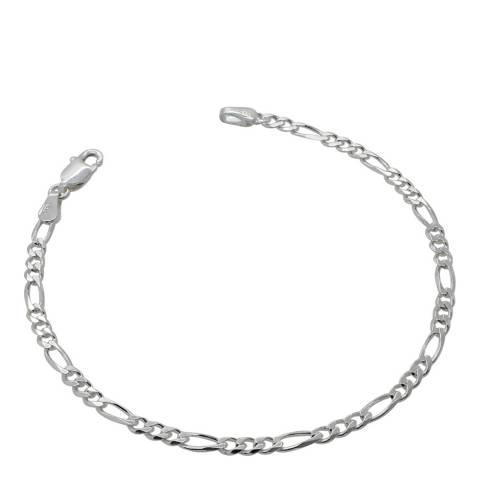 Stephen Oliver Silver Plated Chain Figaro Link Bracelet