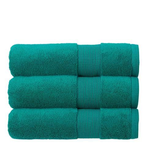 Kingsley Carnival Pair of Hand Towels, Emerald
