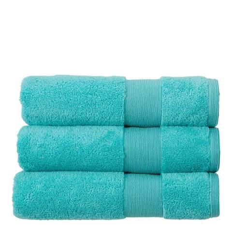 Kingsley Carnival Pair of Hand Towels, Duck Egg