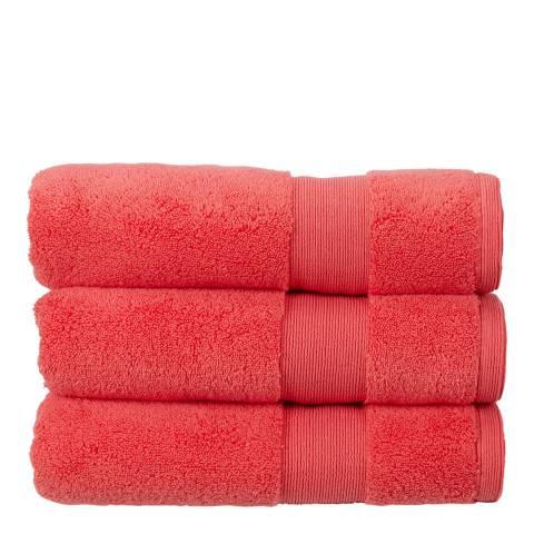Kingsley Carnival Pair of Hand Towels, Coral