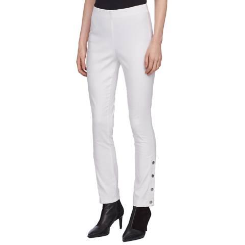 Rag & Bone White Simone Snap Slim Trousers