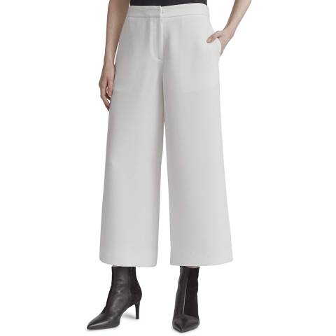 Rag & Bone White Marci Super Wide Trousers