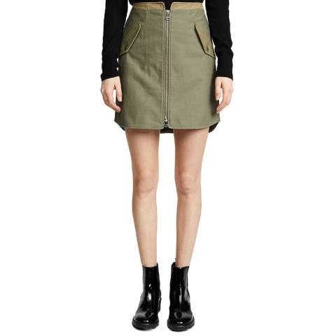 Rag & Bone Khaki Maverick Cotton Skirt