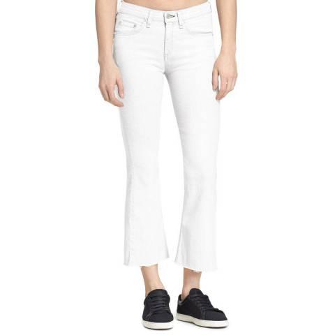 Rag & Bone White Kick Flare Cropped Jeans