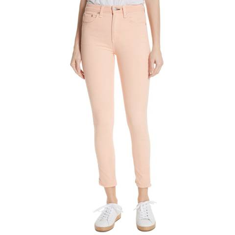 Rag & Bone Peach High Rise Skinny Stretch Jeans
