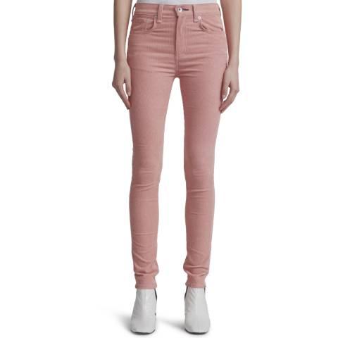 Rag & Bone Pink High Rise Skinny Stretch Jeans