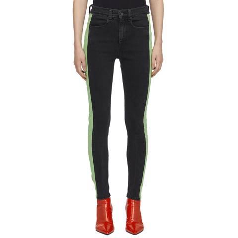 Rag & Bone Black Mazie Skinny Stretch Jeans