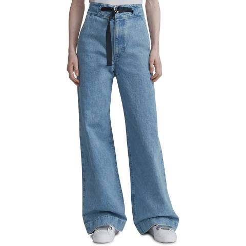 Rag & Bone Blue Super Wide Leg Cotton Jeans