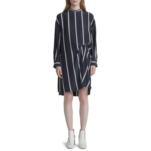 Rag & Bone Navy Jacklin Silk Dress